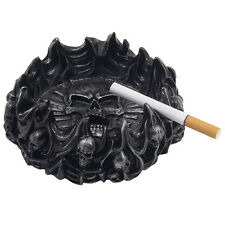 Skulls and Crossbones in Flames Ashtray Halloween Decoration Gothic Decor Gifts