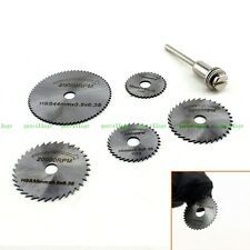6pcs/set HSS Wood Plastic Cut Off Saw Disc Blade Accessory Kit Fits Rotary Tool