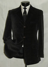 VERSUS by GIANNI VERSACE 3 button side vents men's Brown velvet jacket coat 36 R