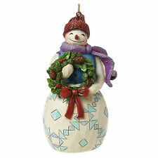 Heartwood Creek Snowman with Wreath Hanging Ornament NEW in Box  23299
