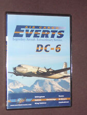 JUST PLANES COCKPIT VIDEO DVD             EVERTS AIR CARGO  DC-6   new sealed
