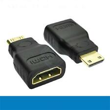 New For HDTV Mini HDMI(Type C) Male to HDMI(Type A) Female Adapter Connector J