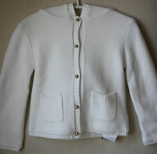 CHLOE BABY WHITE COTTON KNITTED CARDIGAN JACKET 18 MONTHS