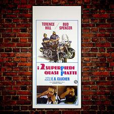 Locandina Originale 2 Superpiedi Quasi Piatti- Bud Spencer, Terence Hill 33x70