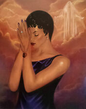 """African American Art """"Praying For Him"""" Religious Art Print by Laurie Cooper"""