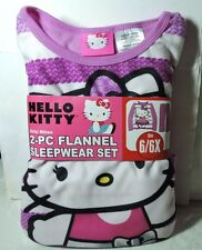 Newest Purple New Hello Kitty  2 piece Flannel Pajamas Sleepwear Set Size 6/6x
