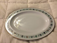 VINTAGE ENGLAND ROYAL DOULTON TAPESTRY FINE CHINA LARGE OVAL PLATTER DISH PLATE