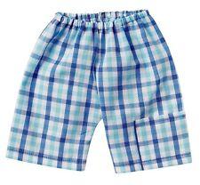 Schwenk Puppenkleidung, Shorts blau-weiß kariert, Größe 43, für 42 - 45 cm Puppe