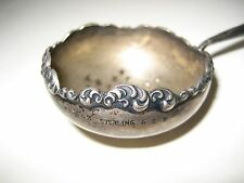 Antique R M & S Sterling Silver, Repousse, Tea Strainer with Dark Wood Handle