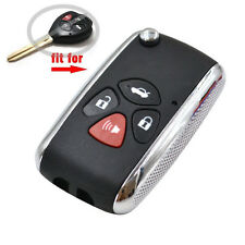 Toyota Yaris Camry Flip Folding Key Case Replacement Remote Fob Shell 4 Buttons