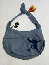 NWT Disney Pirates of the Caribbean denim embroidered Purse bag