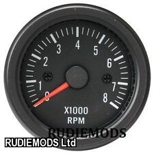 52MM NERO RESISTENTE ALL' ACQUA BENZINA REV TACHO GAUGE IDEALE KIT AUTO o MARINA