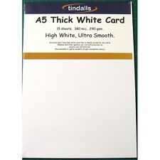 Tindalls A5 Thick White Card 290gsm 15 sheets