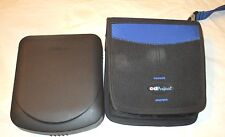 2 CD CARRY CASES, LASERLINE HARD CASE FOR 12, CD PROJECTS SOFT CASE FOR 32