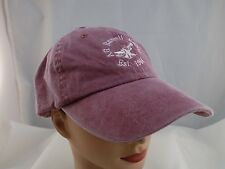 AG RUSSELL KNIVES STITCHED LOGO RED ADJUSTABLE BASEBALL HAT CAP PRE-OWNED ST61