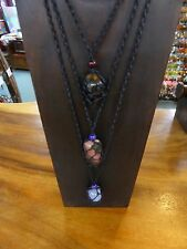 1xBlack Hemp mix Necklace for Tumble Stone (Interchangeable) stone not included