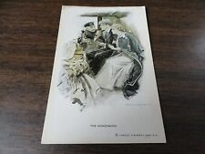 "VINTAGE UNPOSTED COLOR POSTCARD TITLED ""THE HONEYMOON"" BY RENTHAL & NEWMAN, NY"