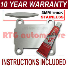 ALFA ROMEO 147 156 159 166 BRERA SPIDER GT EGR BLANK 3MM STAINLESS NZ SEALANT