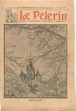 Printemps Jardins Cerisiers Cathédrale Saint-Étienne de Bourges France 1930