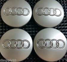 Audi Wheel Center Cap Gray Chrome Logo 60 MM, Fit A3, A4, A6, A8, TT, Q7, S4, S6
