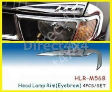 Mitsubishi L200 2005-2015 Chromed Headlight Rim Eyebrows Exterior Replacement