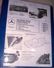Mercedes WORKSHOP MANUAL BODYWORK REPAIR R107 450SL C107 450SLC + FRAME DIAGRAM
