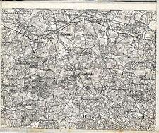Benkheim Banie Mazurskie 1910 Karte /Ln. Surminy Wróbel Kuty Piłaki Wielkie