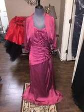 Jade Full Length Mother Of The Groom Bride Formal Solid Gown Size 16 With Bolero