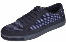 NEW Gucci Men's 391688 Blue Suede Studded Low Top Sneakers Shoes 10 G 11 US