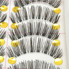 10 Pairs Handmade Makeup Natural Fashion Long Thick False Eyelashes Eye Lash