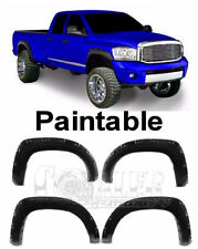 4PC 02-08 Dodge Ram 1500 2500 3500 Fender Flare Bolt on Pocket Rivet Style Matte