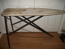 VINTAGE FOLDING WOOD IRONING BOARD WOODEN TABLE  DECOR