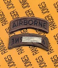 "US ARMY ""AIRBORNE"" OD Green Black TAB patch m/e"