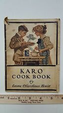 RARE OLD VINTAGE COOK BOOK 1910 KARO CORN PRODUCTS SYRUP EMMA CHURCHMAN HEWITT