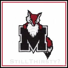 """Marist University Red Foxes Vintage Embroidered Iron On Patch: 3"""" x 2.25"""" NICE !"""