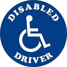 Disabled Driver Disability Car Parking STICKER / VINYL DECAL