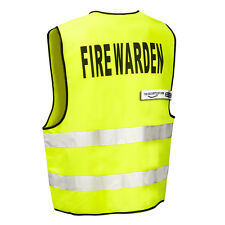 FIRE WARDEN High Viz Visibility Safety Vest (Zip Front) THE-SECURITY-STORE
