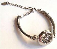 Silver Plated Ships Wheel Bracelet 8 Inches Helm Charm Nautical Watch Style USA