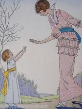 La Première Fleur du Jardin. André Edouard Marty. French Fashion Pochoir 1914