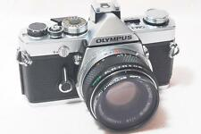 """NEAR MINT"" Olympus OM-1 35mm SLR Film Camera ""FULLY WORKING"" w/F.zuiko 50mmF1.8"
