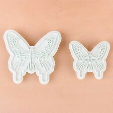 New 2pcs Butterfly Shape Cake Fondant Decorating Sugarcraft Cookie Cutters Mold