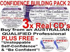 3x CD 's BUILD CONFIDENCE CLINICAL HYPNOTHERAPY SET HYPNOSIS SELF CONFIDENT NLP