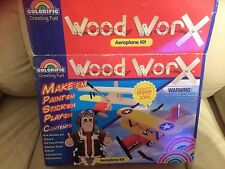 Aeroplane kit,+instructions  wood work,make,paint,stick,and play with it,age 6+