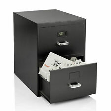 Tech Tools Business Cards Miniature File Cabinet with Digital Clock PI-9617