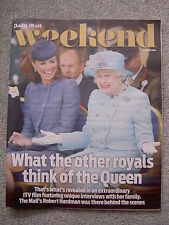 Weekend Magazine - The Queen, Kate Middleton, Rowan Atkinson, Barry Humphries