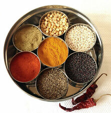 Masala Box 7 authentic Spice Box Storage New Steel Masala Dabba Indian Spice