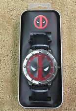 Marvel Deadpool Bolt Face Rubber Band Strap Watch New In Collectors Tin!