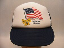 DESERT STORM - SUPPORT OUR TROOPS - VINTAGE - ADJUSTABLE SNAPBACK BALL CAP HAT!