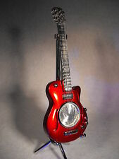 GUITARIST GIFT GUITAR CLOCK  GIFT / PRESENT  MINIATURE CLOCK RED LES PAUL GUITAR
