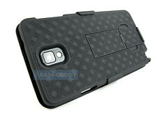 BLACK REAR V2 HARD CASE COVER + BELT CLIP HOLSTER FOR SAMSUNG GALAXY NOTE III 3